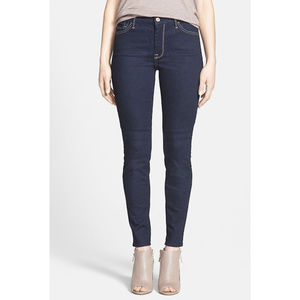7 For All Mankind High Rise Skinny Jeans Rich Dark